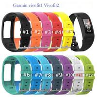 Bande de bracelet en silicone de remplacement coloré pour Garmin Vivofit 1/2 bracelet de montre-bracelet souple pour vivofit1 VIVOFIT2 Smart Bracelet