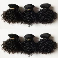 المنغولية البرازيلي العذراء الإنسان لحمة الشعر الطبيعي الأسود 6 قطع قصيرة بوب نمط 8-12 بوصة غريب مجعد الشعر الأوروبي الهندي ريمي الشعر