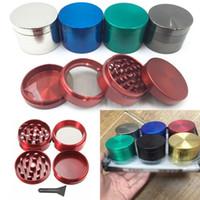 Smerigliatrice Smerigliatrice Herb Grinder 4 parti Metallo Denti Filtro per tabacco Grinder Strumenti Mix Colore 40mm 50mm 55mm 63mm HH7-994