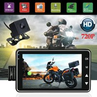 Motorcycle Dual Camera 720P HD Video Recorder Acción IP68 coche DVR Dash Cam + cámara