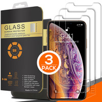 3 Packs für neues iPhone 12 PRO MAX 11 X XR XS MAX Ausgeglichenes Glas Screen Protector 0.26mm 2.5D Gerundeter Rand 8plus für iphone 6 6S 7 8 Plus