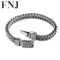 100% 925 braccialetto d'argento larghezza di ancoraggio 8mm classico cavo-cavo catena a maglia S925 thai argento bracciali per donna uomo gioielli Y1891709