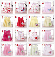 39 styles baby girl cotton dresses summer cartoon skirt embr...
