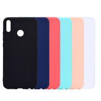 Bonbons Couverture De Couleur Pour Huawei Honor 8X Case Soft TPU Ultrathin Designer Mobie Téléphone Cas Capinha