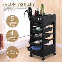 Salon Hairdresser Barber Beauty Storage Trolley Hair Drawers...