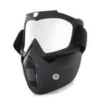 Горячий пыль Задействуя велосипедный велосипедный велосипед Полноценная маска Ветрозащитный зимний теплый шарф велосипед сноуборд лыжи с антиульфициальными очками мужчины / женщины