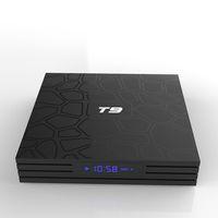 T9 Android 9.0 TV Boîte TV Cœur 4GB 32GB RK3318 2.4G WIFI H.265 avec afficheur à LED