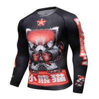 Männer Kompression Shirt Rashguard Langarm 3D Druck Jiu Jitsu T-shirts MMA Fitness Männlich Schnell Trocken Bodybuilding Crossfit Tops