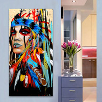 1 Pcs Portrait Canvas Art Wall Pictures For Living Room Woma...