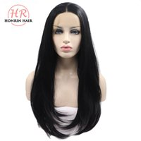 Honrin Hair Heat Resistant Synthetic Nature Black Lace Front...