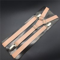 1 piece light pink coral leather suspenders pu 3 quarters in...