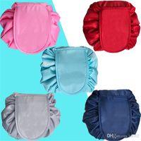 Popolare Lazy Cosmetic Bag Tuba Make Up Coulisse Borse Portable Travel Storage Bundle Pocke Scolorito Nuovo 9 5jsa dd