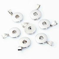 18mm Noosa Snap Button Alloy Charms Colgante para collar y pulseras DIY Accesorio de joyería Intercambiable Ginger Snap No incluye cadena