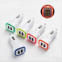 5V 2.1A Puertos USB dobles Led Light Car Cargador Adaptador Universal Charing para Iphone Samsung htwe huawei xiaomi