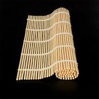 Sushi Rolling Tool Bamboo Material Mat Sushi Maker DIY Creative Food Grade Bamboo Sushi Mat 24*24cm 60PCS