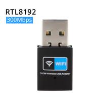 300Mbps USB wifi 텔레비젼 접합기 무선 네트워크 카드 wi fi 안테나 전송기 소형 USB 대패 WI FI LAN 인터넷 어댑터 RTL8192