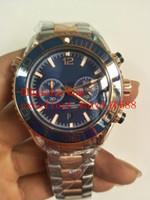 d1bdc2c2360 Réplicas de relógios Frete grátis 45.5 milímetros Co-Axial 600 M  232.30.46.51.01.003 18k Rose Gold Dial Azul cronógrafo de quartzo homens  excelente Assista