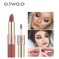 O. TWO. O 12 Colors 2in1 lipstick Lips Makeup Gloss Long Lasti...