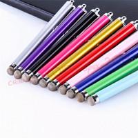 الألياف القماش بالسعة ستايلس القلم معدن قلم اللمس لباد فون 6 7 8 × سامسونج الروبوت الهاتف اللوحي MP3