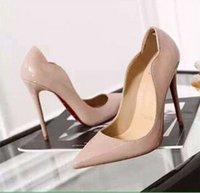 2018 IRed Bottom Cymn Black Pointed Toe Extreme High Heels S...
