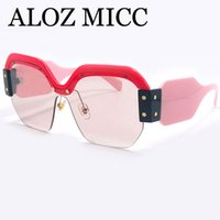 ALOZ MICC Luxury Sunglasses Women Newest Unique Oversized On...