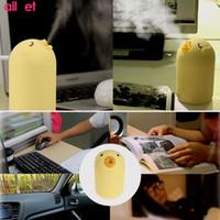 USB bureau à domicile voiture humidificateur à ultrasons voiture de bande dessinée créatif canard jaune mini humidificateur Waterdrop LED lumière diffuseur d'air