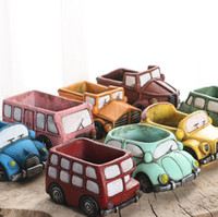 Creative Retro Car Flowerpot Colorful Planter Garden Succule...