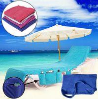 Serviettes de bain Lounger Mate Serviette de plage 73 * 210 cm Microfibre Bain de Soleil Lounger Lit De Vacances Jardin Plage Chaise Couverture Serviettes 12pcs OOA4702