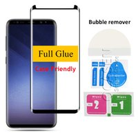 For Samsung Note 9 8 S8 S9 Plus S7 Edge 3D Curved Full Glue ...