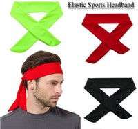 venta al por mayor nueva TIE BACK HEADBANDS Sweatband Moisure Wicking Workout Excercise Sport Band 18 color