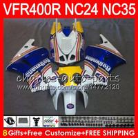 RVF400R för Honda VFR400 R NC24 V4 VFR400R 87 88 94 95 96 81HM.0 RVF VFR 400 R NC35 VFR 400R 1987 1988 1994 1995 1996 Fairings Rothmans Blue