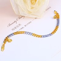 Rhodium Plated 24K Gold Filled Bracelets 6MM Fine Jewelry Fo...