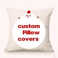 Free Customize Throw Cotton Linen Pillow Covers Digital Prin...