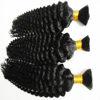 뜨거운 판매 학년 6a 처리되지 않은 브라질 딥 웨이브 머리 인간의 머리 대량 300 g 자연 검은 머리카락에 대 한 대량