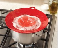 다기능 요리 도구 꽃 조리 용품 부품 28cm 환경 실리콘 끓는 뚜껑 오버 스토퍼 오븐 냄비 / 팬 커버 안전