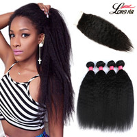 Brazilian Kinky Straight Hair Weave Bundles With Closure Fre...