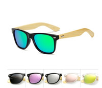 Quadratische Schattierungen Markendesign Bambus polarisierte Sonnenbrille Männer Holz Frauen Sport Retro Vintage Eyewear polorized 1501 Mirror Unisex Oculos