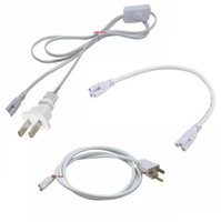 Câble de connecteur T5 T8 5ft 6ft rallonge avec interrupteur pour câble d'alimentation de tube led intégré avec prise US