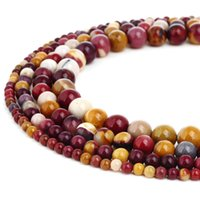 Natural Mookaite Jaseper Stone Beads Round Gemstone Loose Be...