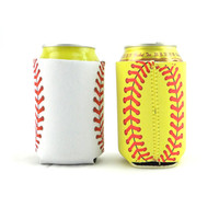 Pode Luva de Beisebol Padrão Eco-friendly Pode Cooler Neoprene Pode Titulares 13x10 cm 2 Cores Venda Quente wen6787