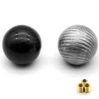 Forma universal de la bola de la palanca de la palanca de cambio de la palanca de cambio del engranaje del coche de la fibra de carbono