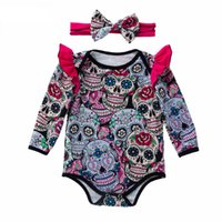 Baby Girls Halloween Rompers Newborn Multicolored Death&#039...