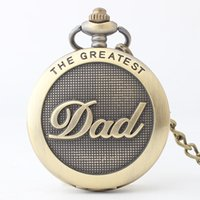 Bronze DAD Gifts Quartz Pocket Watch Necklace Pendant Women ...