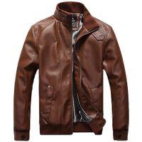 2018 Yeni Erkek Ceketler PU Giyim Lokomotif Erkekler Giyim Ceket erkek Chaqueta Için Erkek Deri Ceket Motosiklet Palto