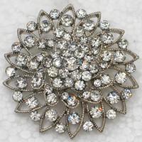Gros Cristal Strass Demoiselle D'honneur De Mariage Partie Prom Broches Broche Fleur Broche Broche De Mode bijoux fantaisie cadeau C750