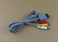 오디오 비디오 AV 컴포지트 3 RCA 케이블 - Wii 본체 용 가장 선명한 비디오