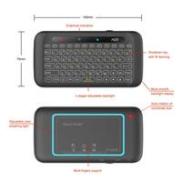 Ultima mini tastiera a doppia faccia senza fili H20 Touchscreen a schermo intero Touchpad Mini tastiera wireless da 2,4 Ghz per tablet desktop portatile