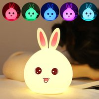 Night Lamp led lights bedlamp bedside lamp rabbit night ligh...
