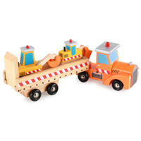 New Wooden Baby Toys Engineering Truck Baby Educational Toys