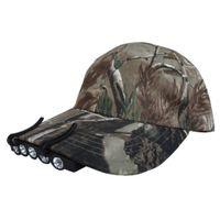 Прочный 5 из светодиодов кепка шляпа козырек клип белый свет кемпинг рыболовства инструмент черный фары светодиодные фары крышка